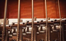 Sznurki Jazzowa Basowa gitara Zdjęcia Stock