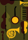 Sznurki, klawiatury, wiatrowi muzyczni instrumenty Obrazy Stock