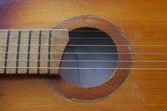 Sznurki na gitarze obrazy stock