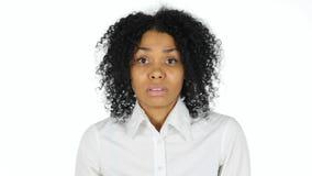 Szok, Niepokoi Sfrustowanej Afro amerykanina kobiety zdjęcie royalty free