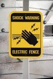 Szoka znak ostrzegawczy Zdjęcie Stock