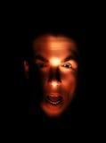 szokująca twarzy samiec Zdjęcia Stock
