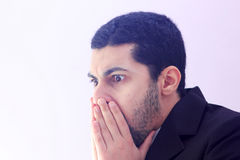 Szokujący arabski biznesowy mężczyzna Obrazy Stock