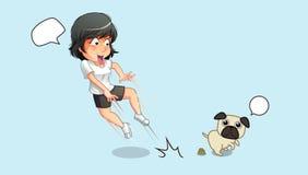 Szokuje dla psa i fekaliów ilustracji