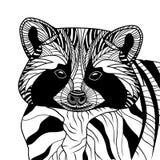 Szopa lub coon kierownicza zwierzęca ilustracja Obrazy Stock