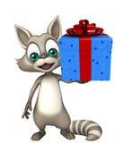 Szopowy postać z kreskówki z giftbox ilustracji