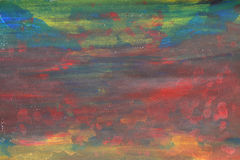 Szorstcy abstrakcjonistyczni akwarela dzieciaki malują piękną kolorową sztukę Zdjęcie Royalty Free