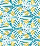 Szorstcy muśnięcie zieleni trójboki i kolorów żółtych okręgi Fotografia Stock