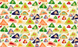Szorstcy szczotkarscy barwioni trójboki z plamami Obrazy Stock