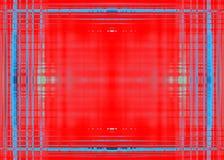 Szorstka błękit granica na czerwieni Fotografia Royalty Free