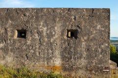 Szorstka, betonowa powierzchnia bunkier ściana, Zdjęcia Stock