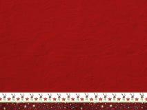 Szorstka czerwień malował ścianę i dekoracyjną christmassy granicę Fotografia Stock
