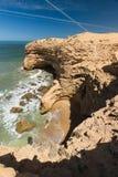 Szorstka kolorowa linia brzegowa, Atlantyk, Maroko Obraz Stock