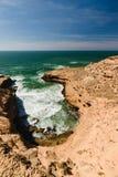 Szorstka kolorowa linia brzegowa, Atlantyk, Maroko Obrazy Royalty Free