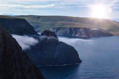 Szorstka linia brzegowa przy Północnym przylądkiem obrazy stock