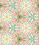 Szorstka muśnięcie zieleń i pomarańczowi w kratkę trójboki Zdjęcia Royalty Free