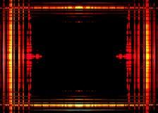 Szorstka pomarańcze granica na czerni Obraz Royalty Free