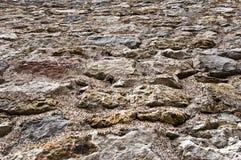 Szorstka powierzchnia kamienie na ziemi na ścianie lub Fotografia Stock