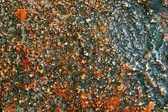 Szorstka pstrobarwna i granulacyjna kamień powierzchnia Fotografia Stock