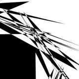 Szorstka, zirytowana geometryczna tekstura, Abstrakcjonistyczny czarny i biały illustra ilustracji