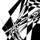 Szorstka, zirytowana geometryczna tekstura, Abstrakcjonistyczny czarny i biały illustra royalty ilustracja