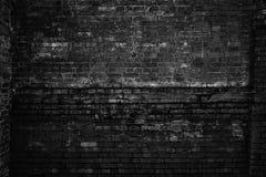 Szorstki ściana z cegieł, czarny i biały fotografia Grunge tło obraz stock