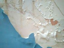 Szorstki błękitny i biel malujący ścienny tło obrazy royalty free