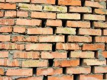 Szorstki brickwork z zbyt wielkimi przerwami Fotografia Stock
