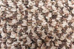 Szorstki brown wielbłądzi wełny tkaniny tekstury zbliżenie Obraz Stock