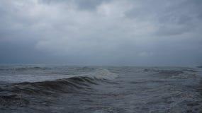 Szorstki czarny morze Obrazy Royalty Free