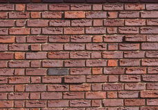 Szorstki Czerwony ściana z cegieł Zdjęcia Stock