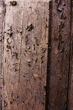 Szorstki, drewniany, krakingowy textured tło, Obrazy Royalty Free