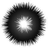 Szorstki grungy abstrakcjonistyczny okręgu element, kurenda zniekształcał pierścionek, d ilustracji