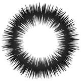Szorstki grungy abstrakcjonistyczny okręgu element, kurenda zniekształcał pierścionek, d ilustracja wektor