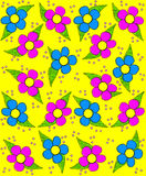 Szorstki nakreślenie w stokrotkach Żółtych Obraz Stock