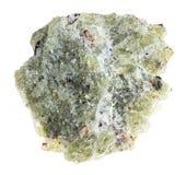 szorstki olivine kamień na bielu (chryzolit) zdjęcie royalty free