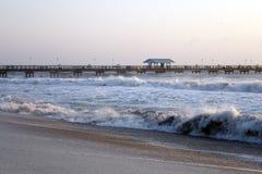 Burzowi morza w Floryda Zdjęcia Royalty Free