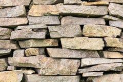 Szorstkie i Skaliste tekstury Kamienna ściana Fotografia Stock