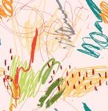 Szorstkie skrobaniny żółte na świetle - menchia ilustracja wektor