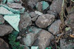 Szorstkie textured sztywno geographical skały zdjęcie royalty free