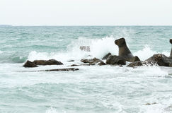 Szorstkiego morza burza Obrazy Stock
