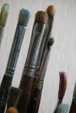 szoruj używane farby Fotografia Stock