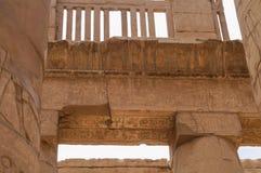 SZPALTOWA hieroglifów KARNAK świątynia Obrazy Stock
