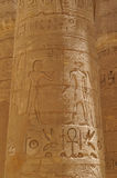 SZPALTOWA hieroglifów KARNAK świątynia Fotografia Royalty Free