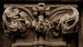 Szpaltowego kapitału b Zachodnia fasada studnie Katedralne Zdjęcie Royalty Free