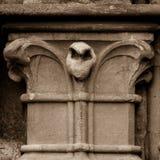 Szpaltowego kapitału d Zachodnia fasada studnie Katedralne Obrazy Royalty Free
