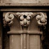 Szpaltowego kapitału N Zachodnia fasada studnie Katedralne Fotografia Royalty Free