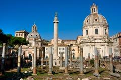 szpaltowy forum Italy Rome trajan Zdjęcie Royalty Free