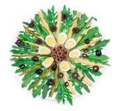 Szparagowa sałatka z sardelami Obrazy Royalty Free