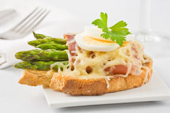 Szparagowego baleronu serowa kanapka Obrazy Stock